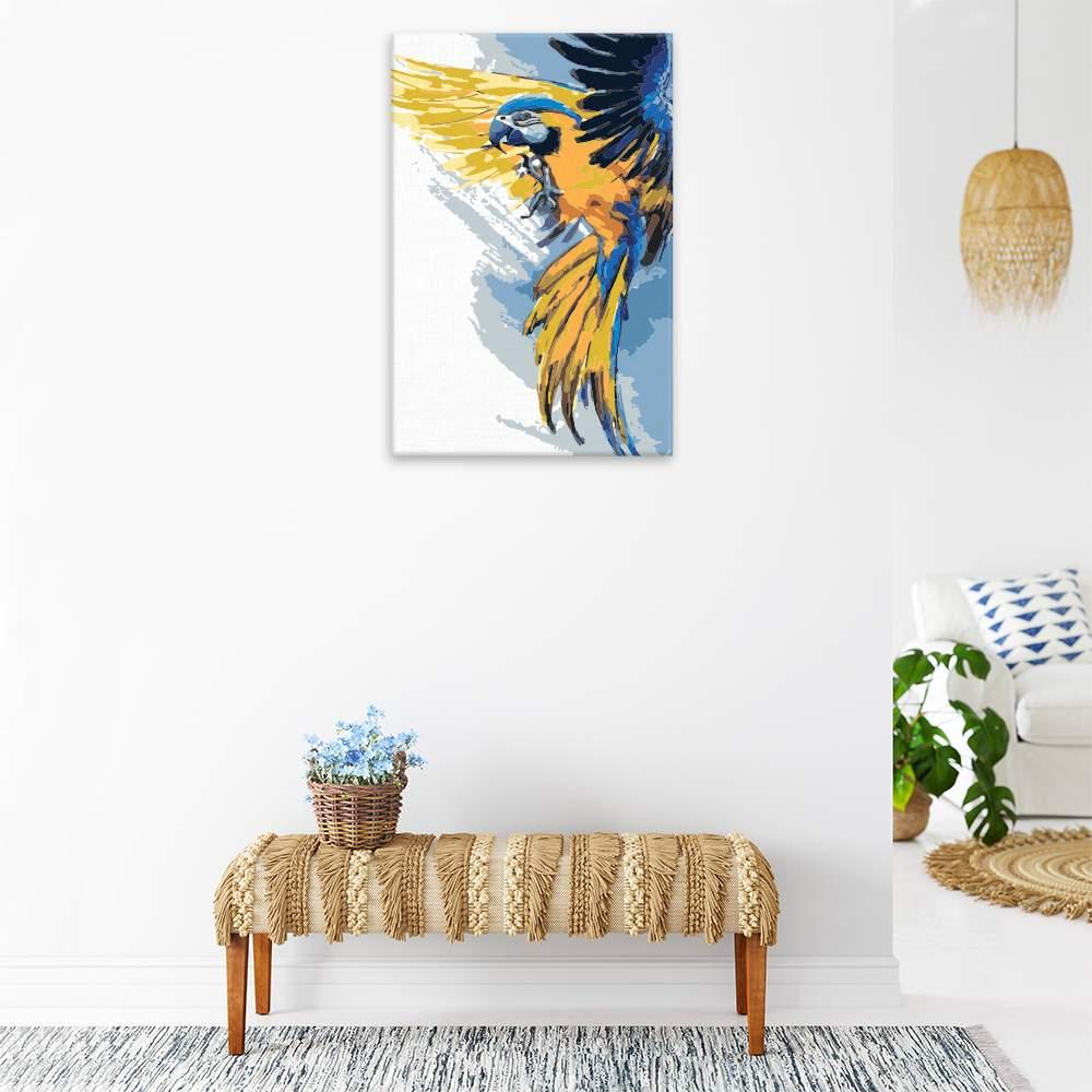 Malování podle čísel Papoušek v rozletu