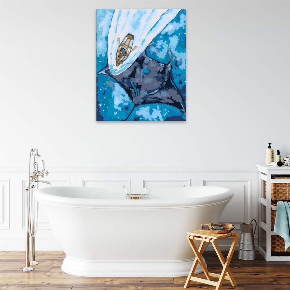 Malování podle čísel Rejnok a loďka