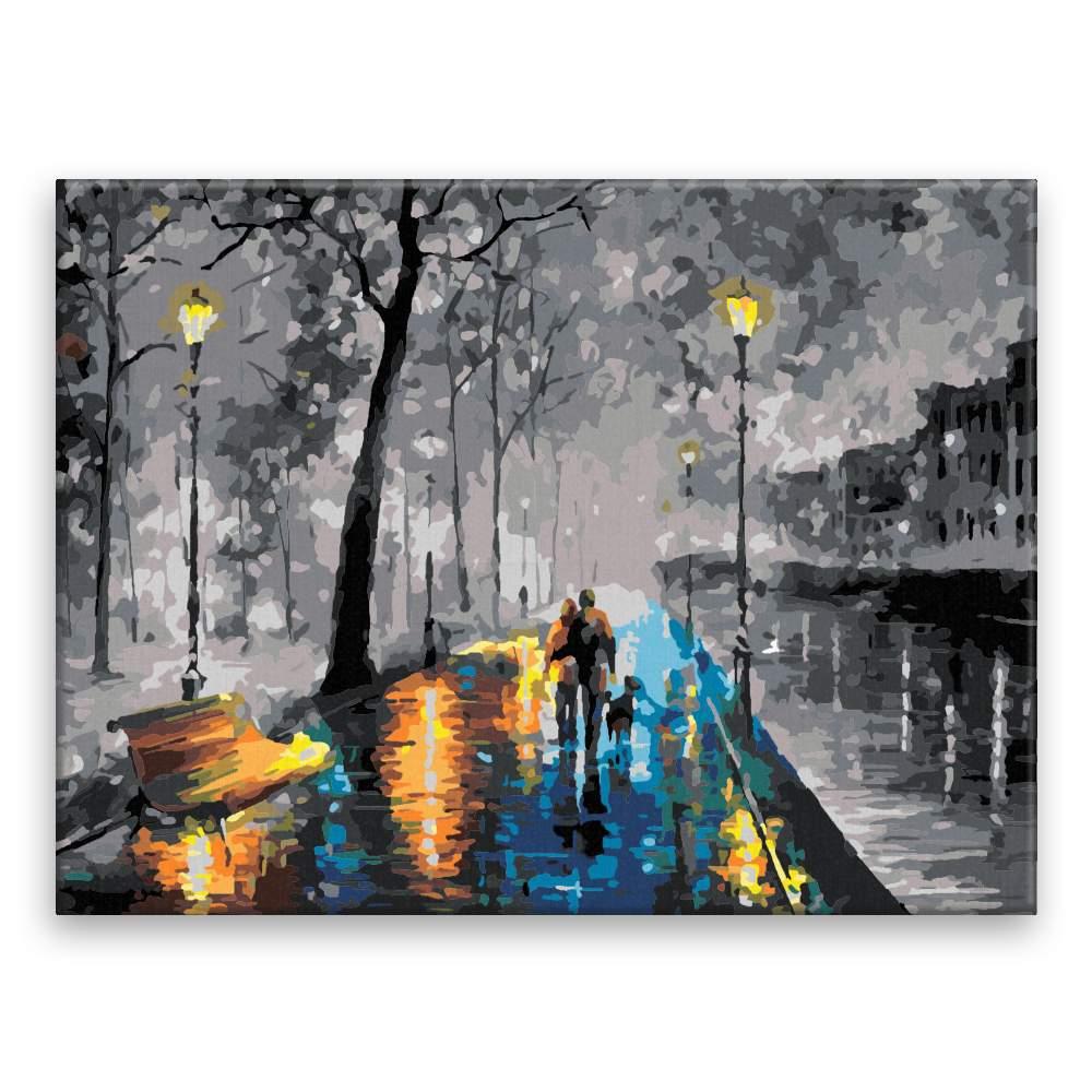 Malování podle čísel Procházka po barevném chodníku