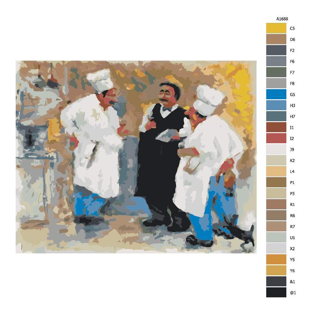 Návod pro malování podle čísel Po práci