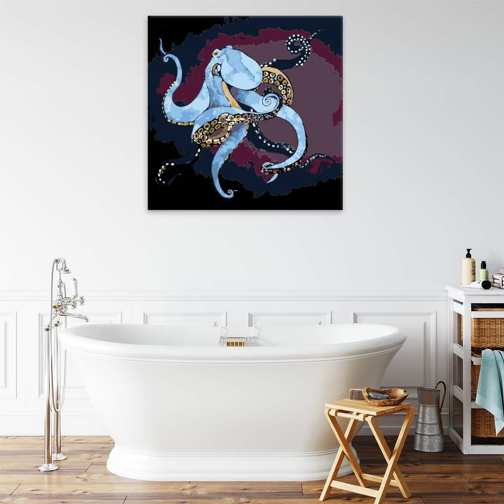 Malování podle čísel Modrá chobotnice