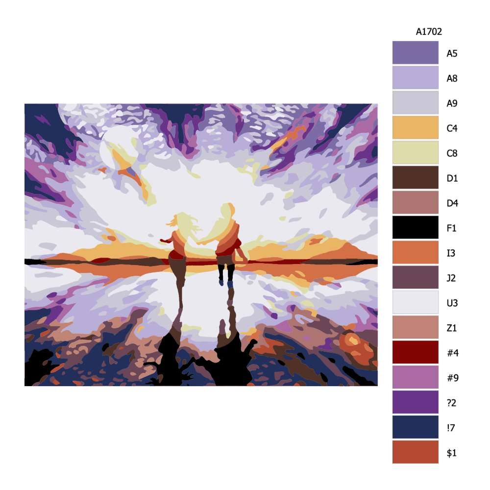 Malování podle čísel Ve dvou proti slunci