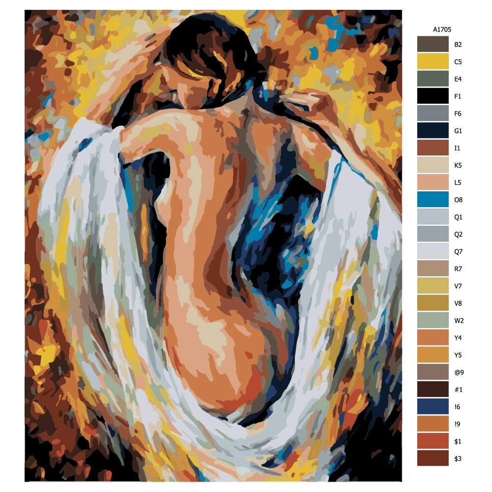 Návod pro malování podle čísel Odhalená