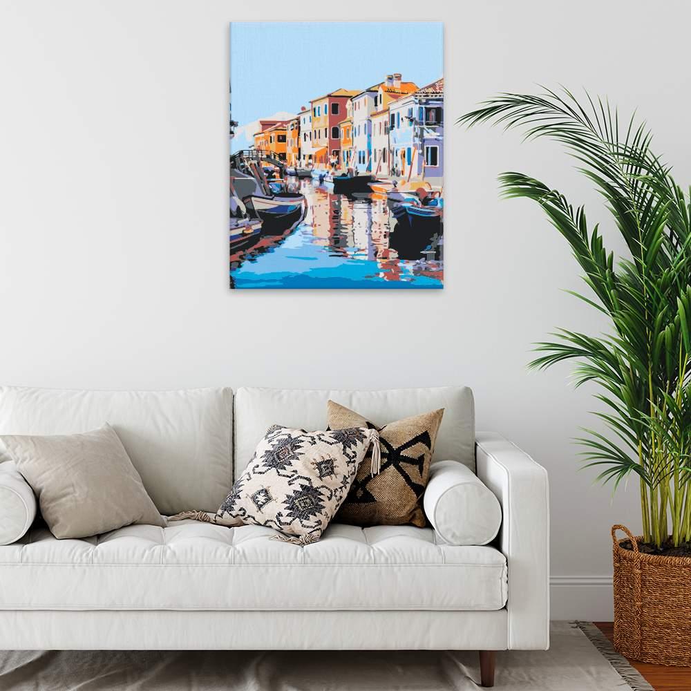 Malování podle čísel Ranní Benátky