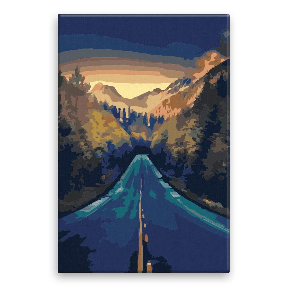 Malování podle čísel Cesta v horách