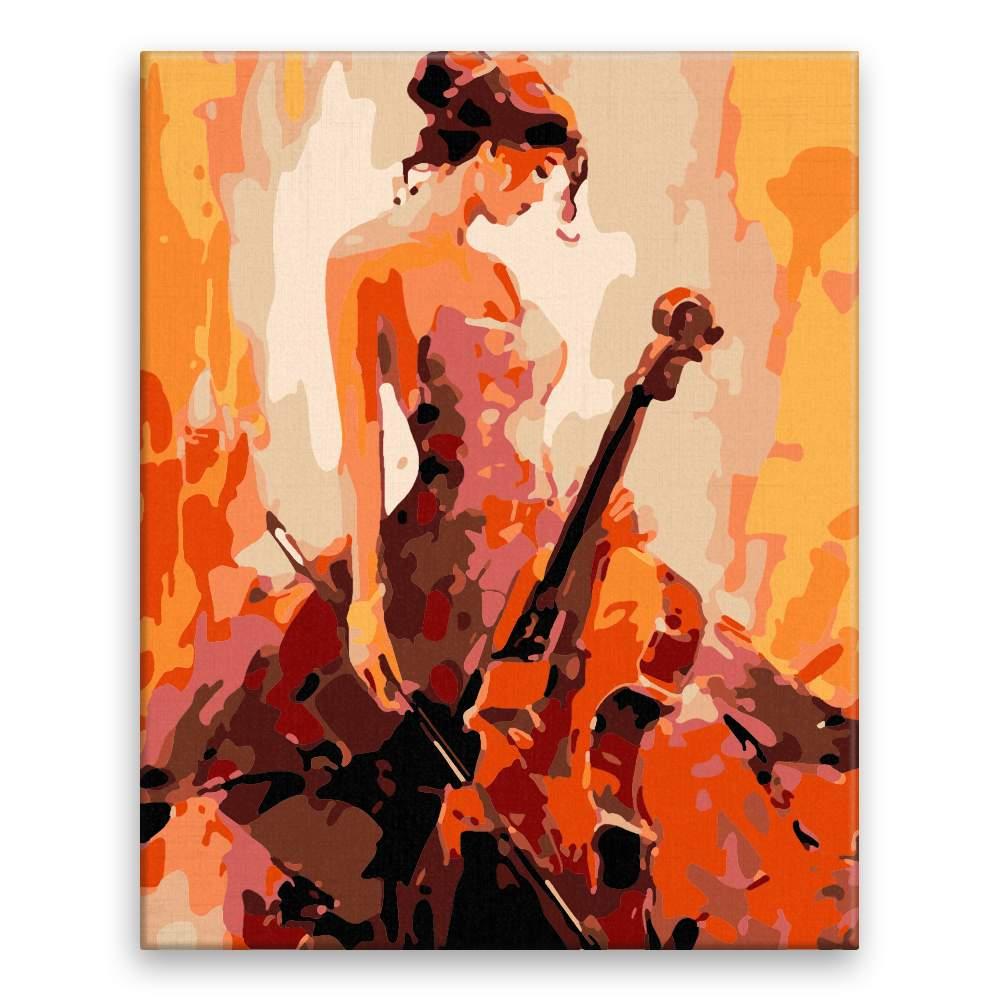 Malování podle čísel Dívka s violončelem