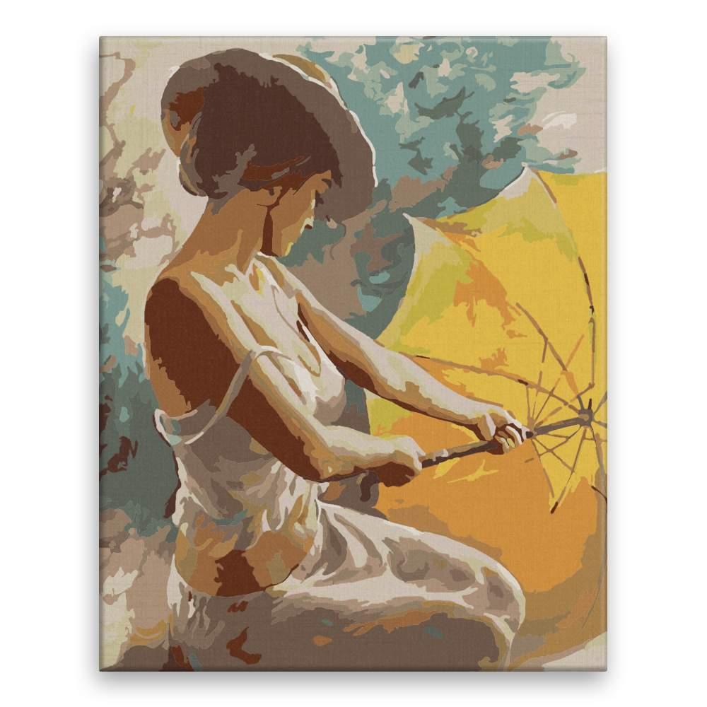 Malování podle čísel Můj žlutý deštník