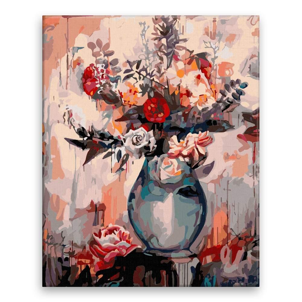 Malování podle čísel Tajemná váza