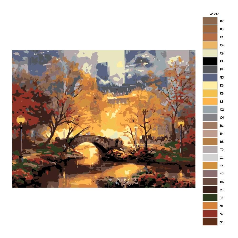 Návod pro malování podle čísel Central Park