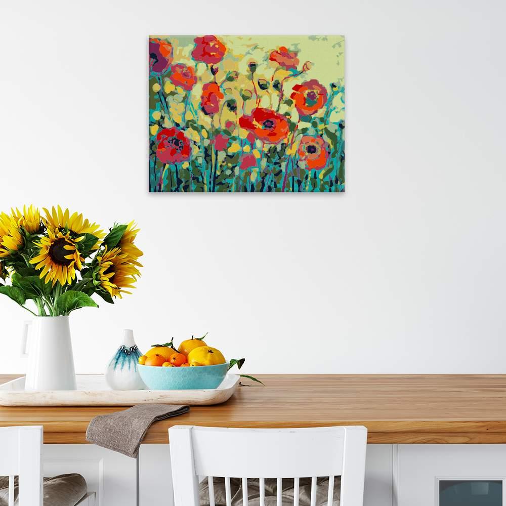 Malování podle čísel Polní mák a žlutá obloha