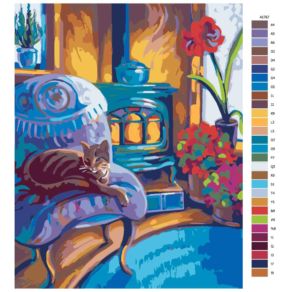 Malování podle čísel Kočičí pohodička
