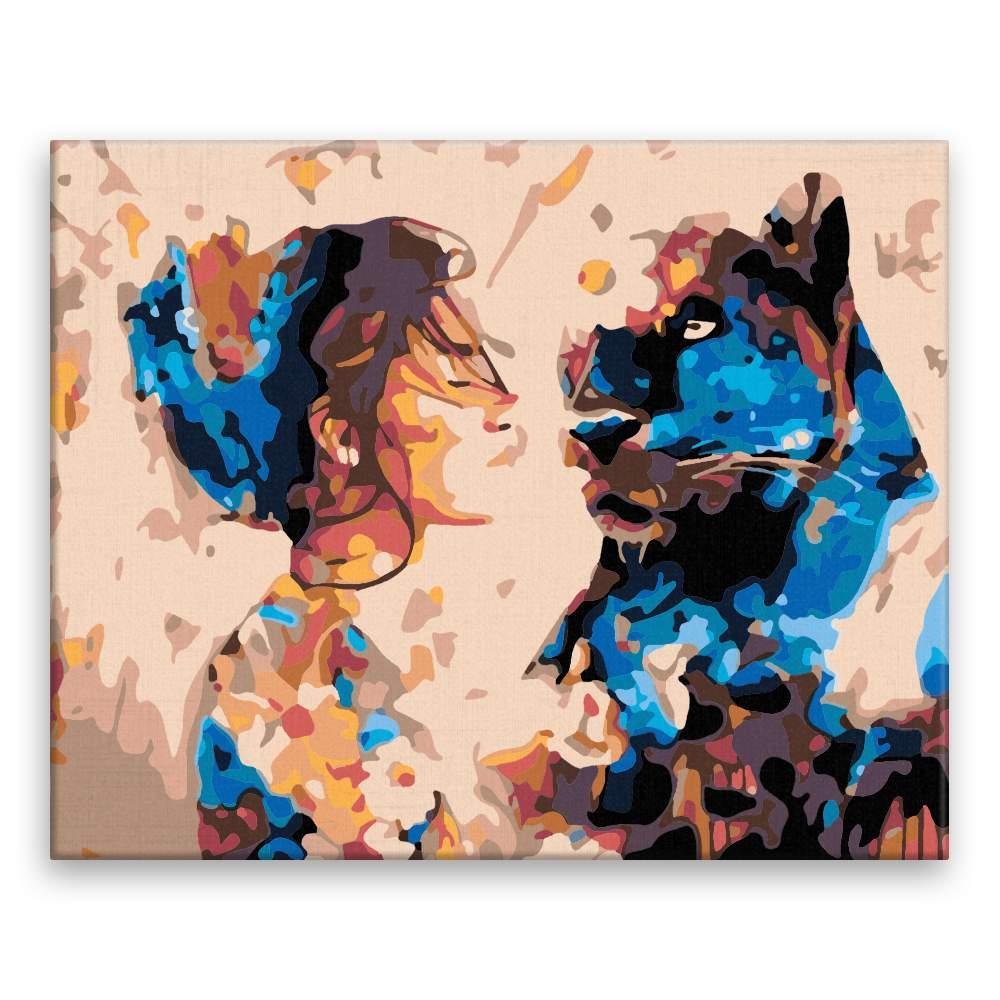 Malování podle čísel Kráska a zvíře