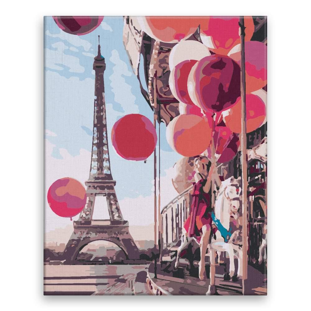 Malování podle čísel Červené balonky v Paříži