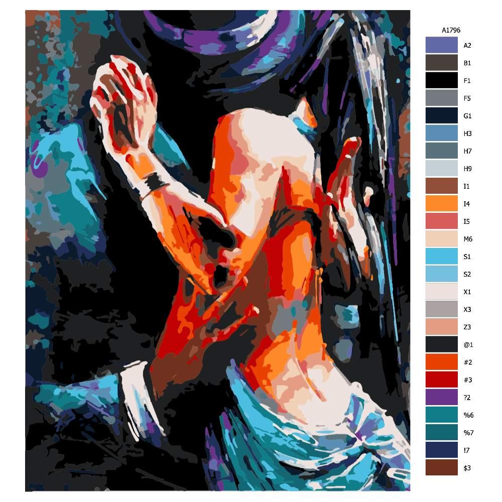 Návod pro malování podle čísel Touha