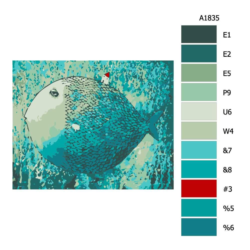 Návod pro malování podle čísel Dům na samotě
