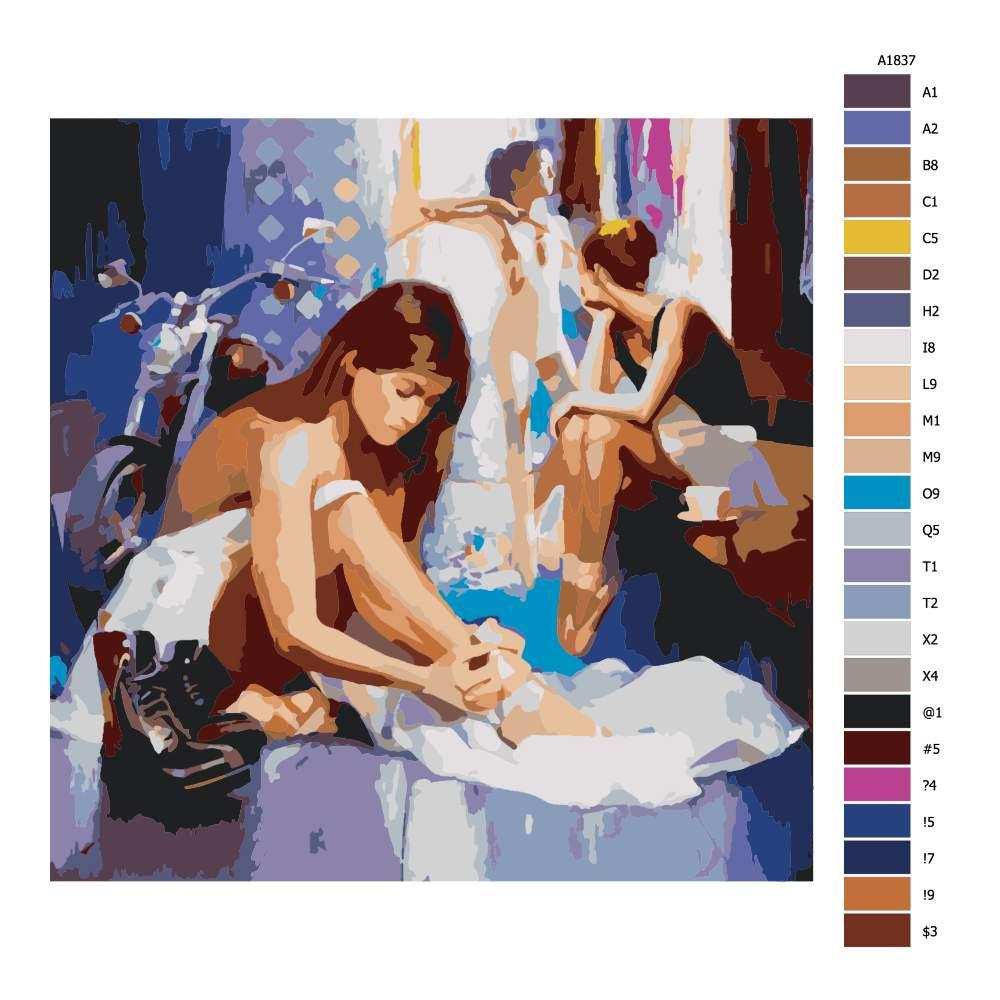 Malování podle čísel Baletní zákulisí