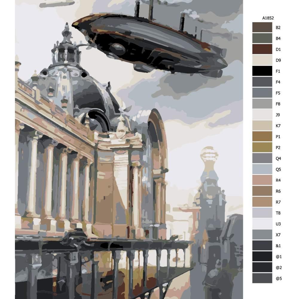 Malování podle čísel Přistávání budoucnost