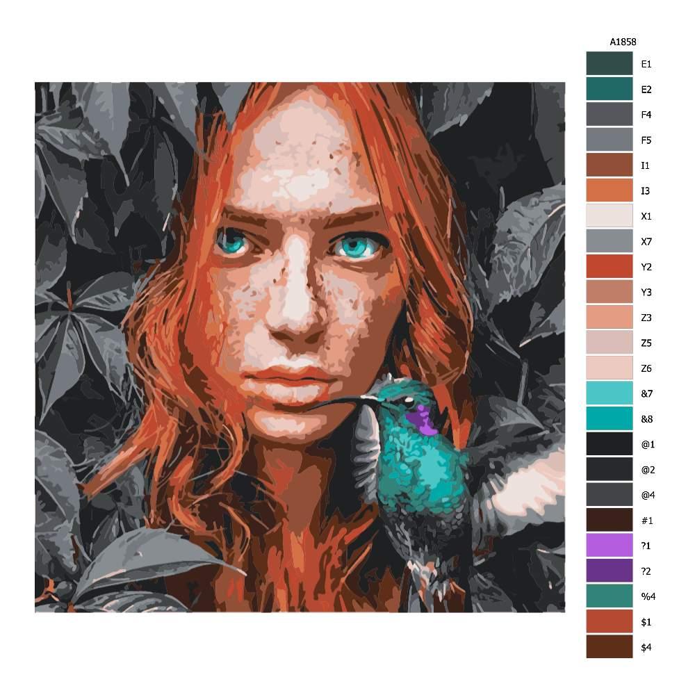Malování podle čísel S kolibříkem