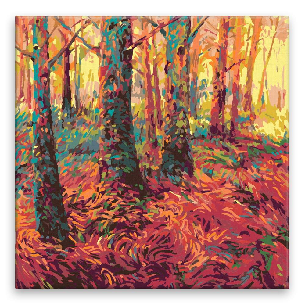 Malování podle čísel Červený les