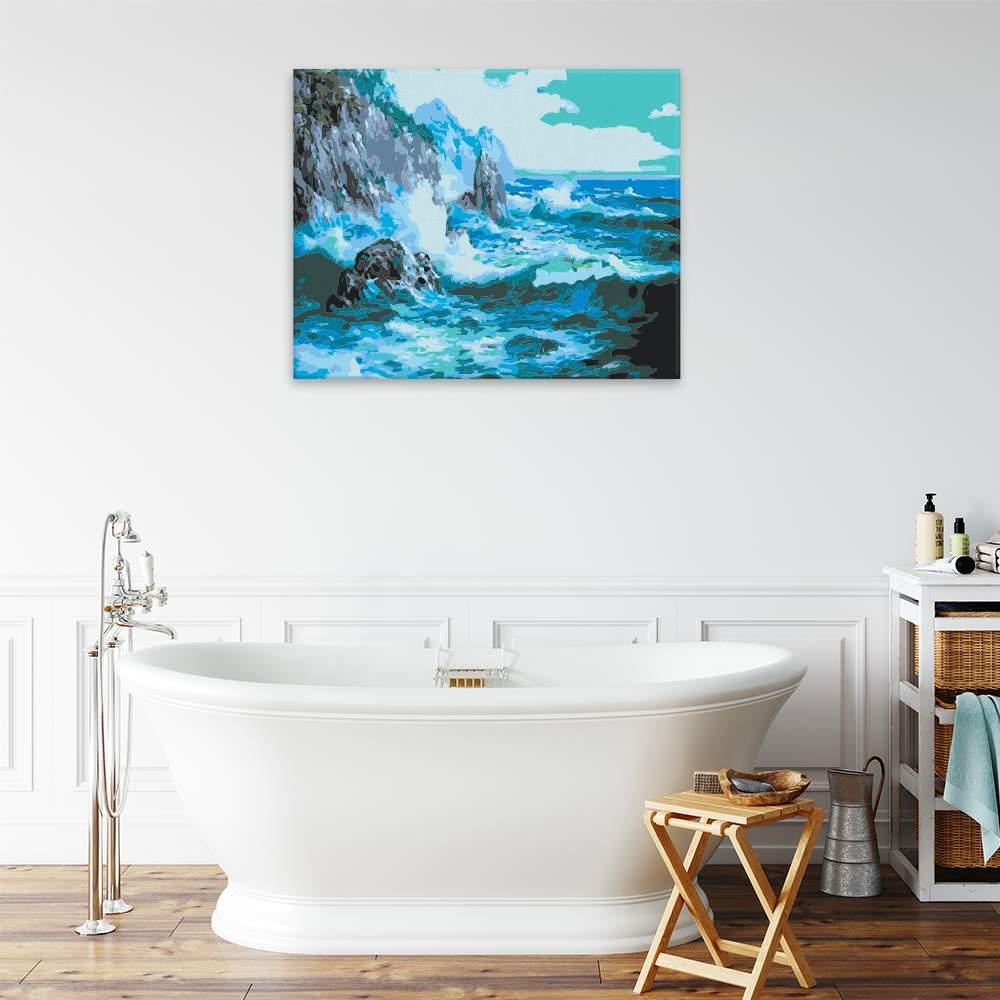 Malování podle čísel Útesy ve vlnách