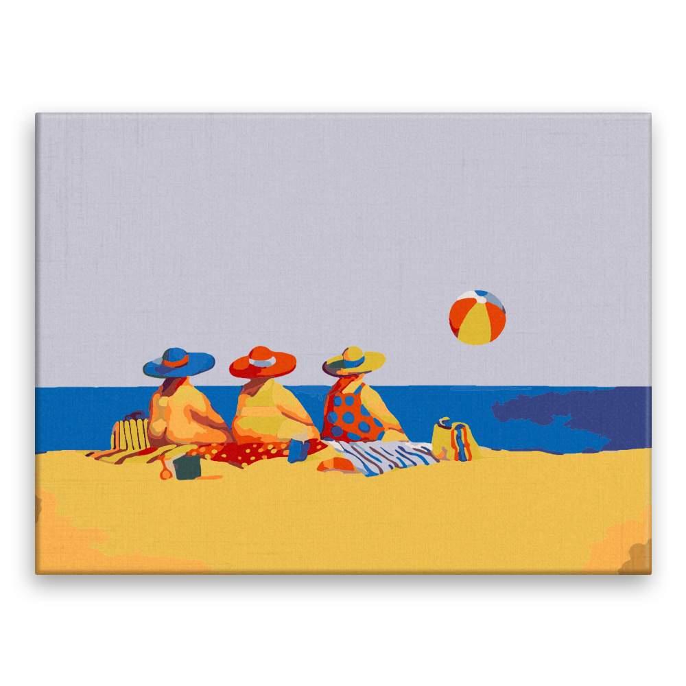 Malování podle čísel Ve třech na pláži