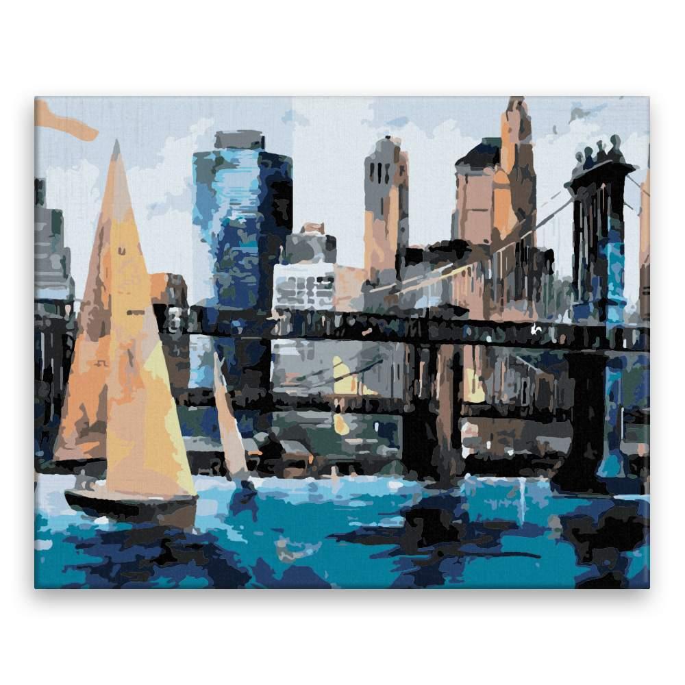 Malování podle čísel Plavba v Manhattanu