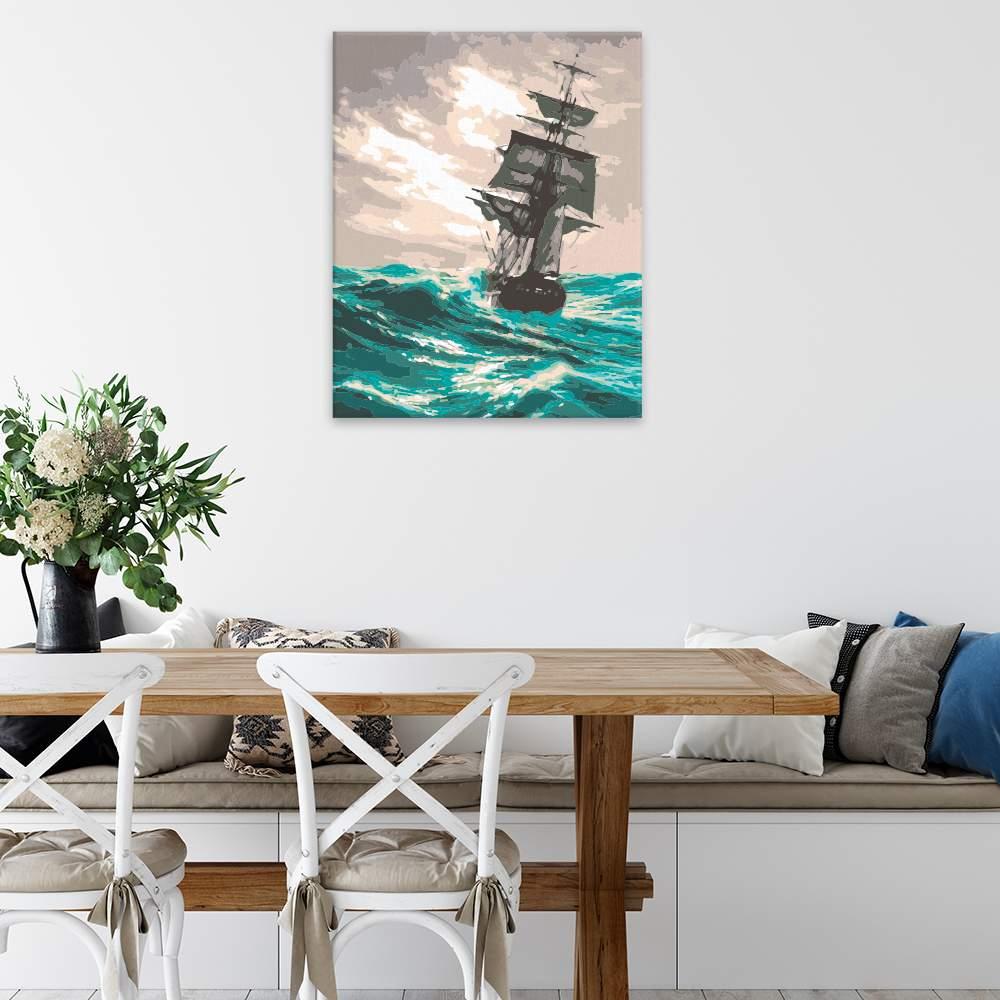 Malování podle čísel Plavba v rozbouřeném moři