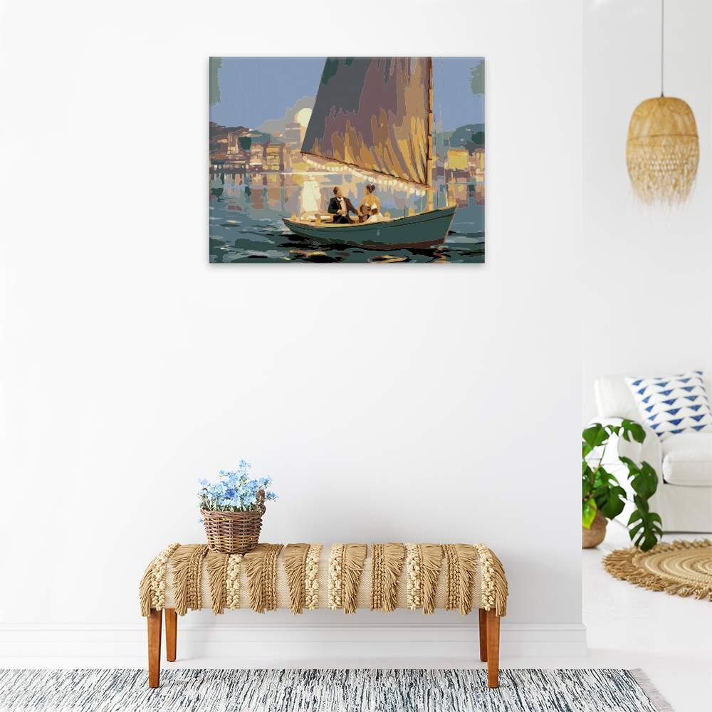 Malování podle čísel Romantická plavba ve dvou