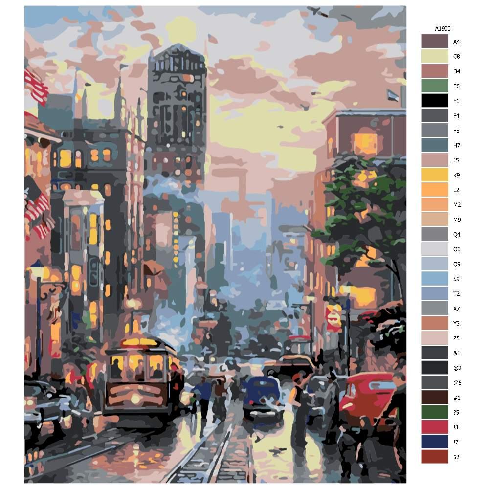 Návod pro malování podle čísel San Francisco