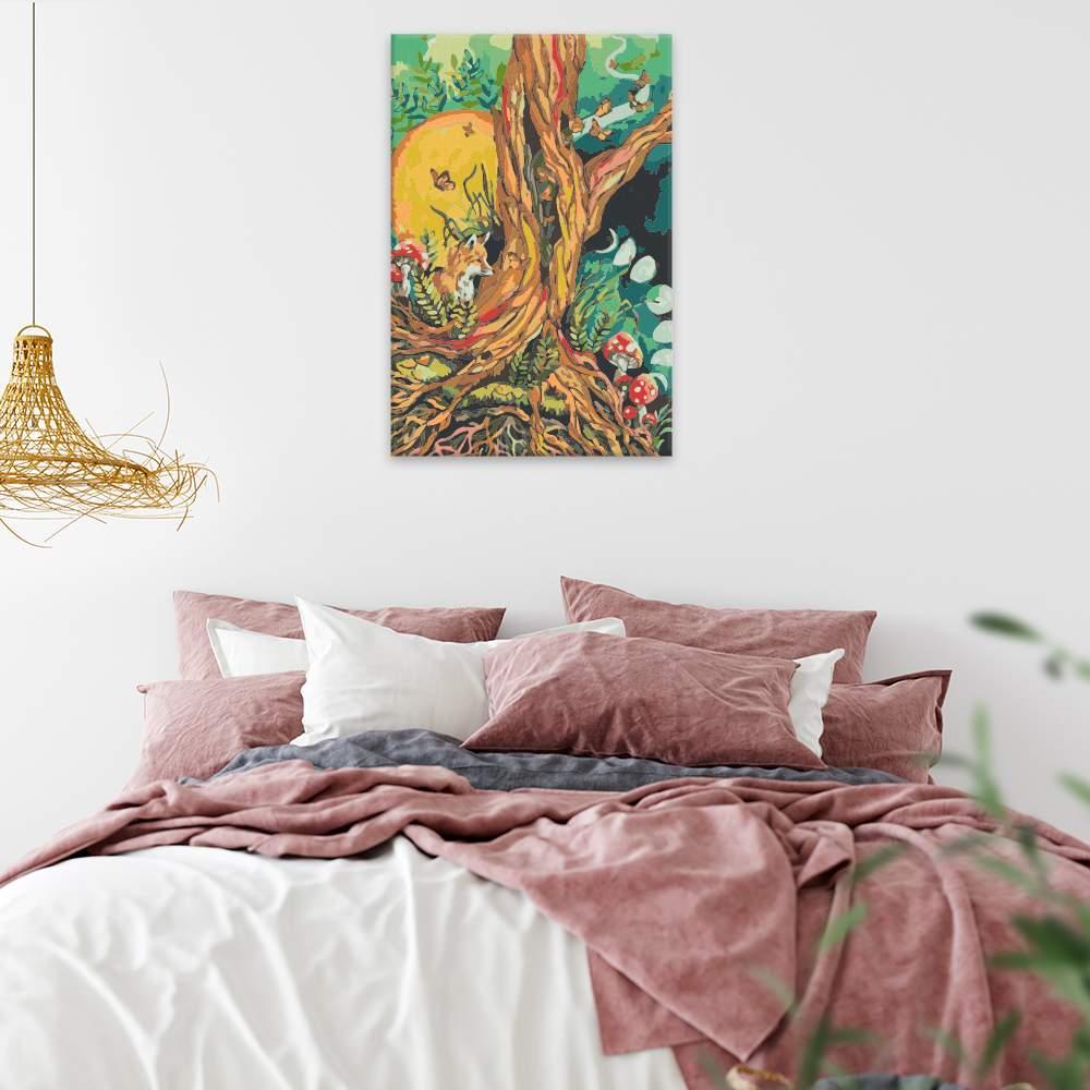 Malování podle čísel Pohádkový les
