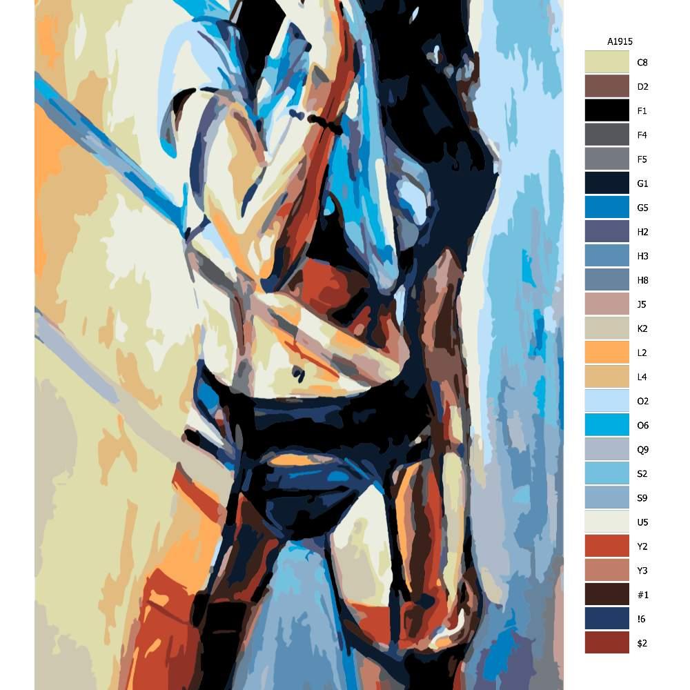 Malování podle čísel Vyzívavá