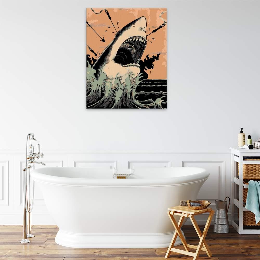Malování podle čísel Lov na žraloka