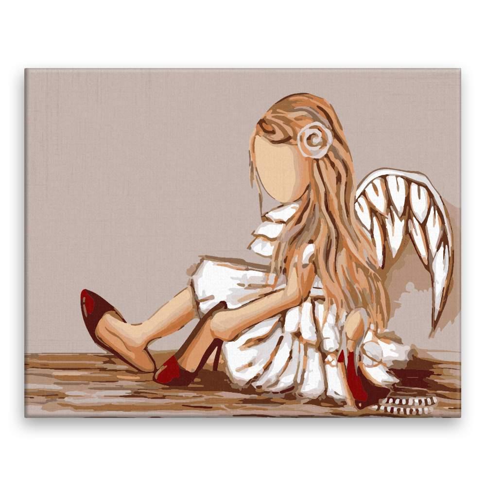 Malování podle čísel Malý andílek