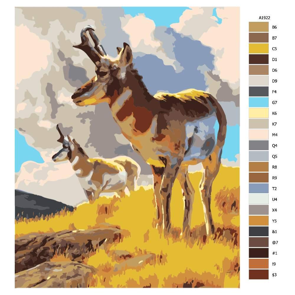 Malování podle čísel V záchvěvu větru