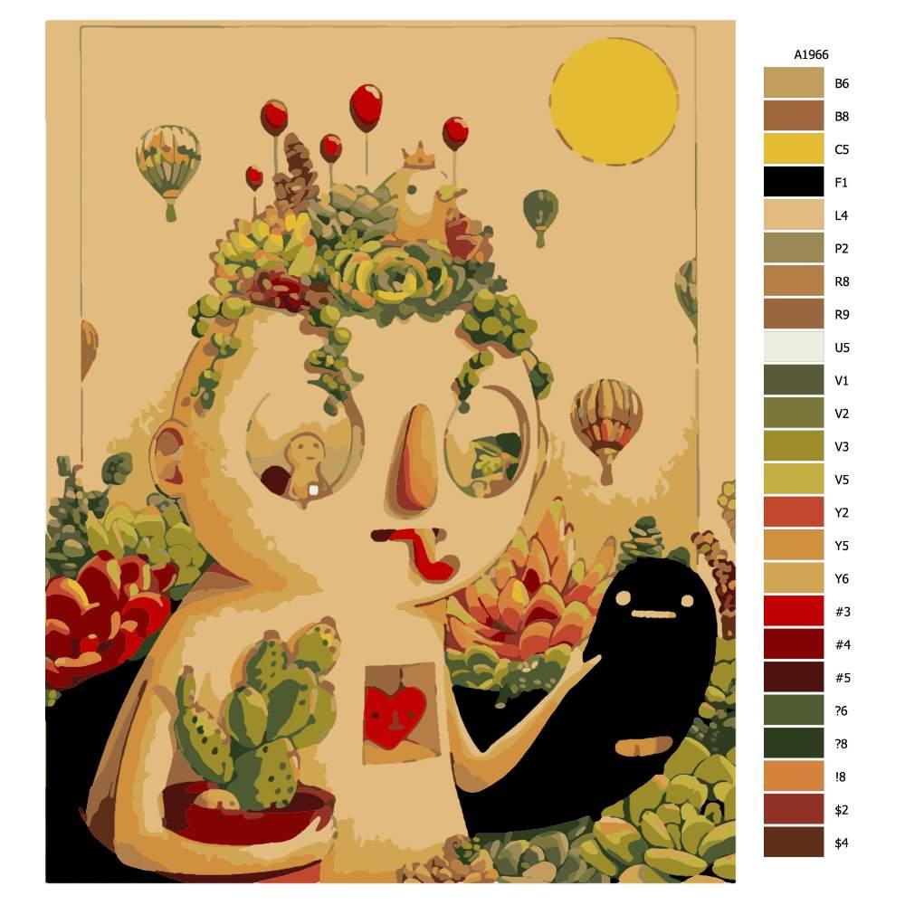 Návod pro malování podle čísel Malý velký muž
