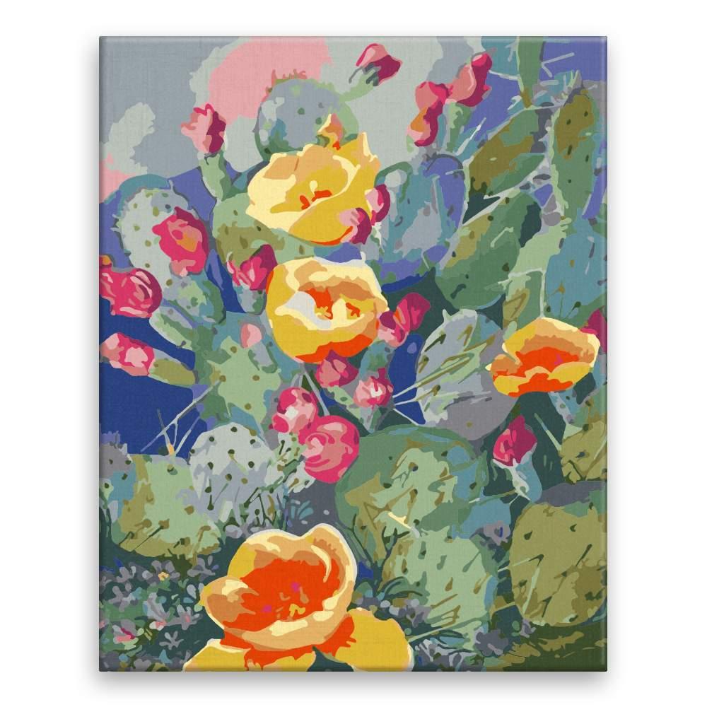 Malování podle čísel Kvetoucí kaktusy