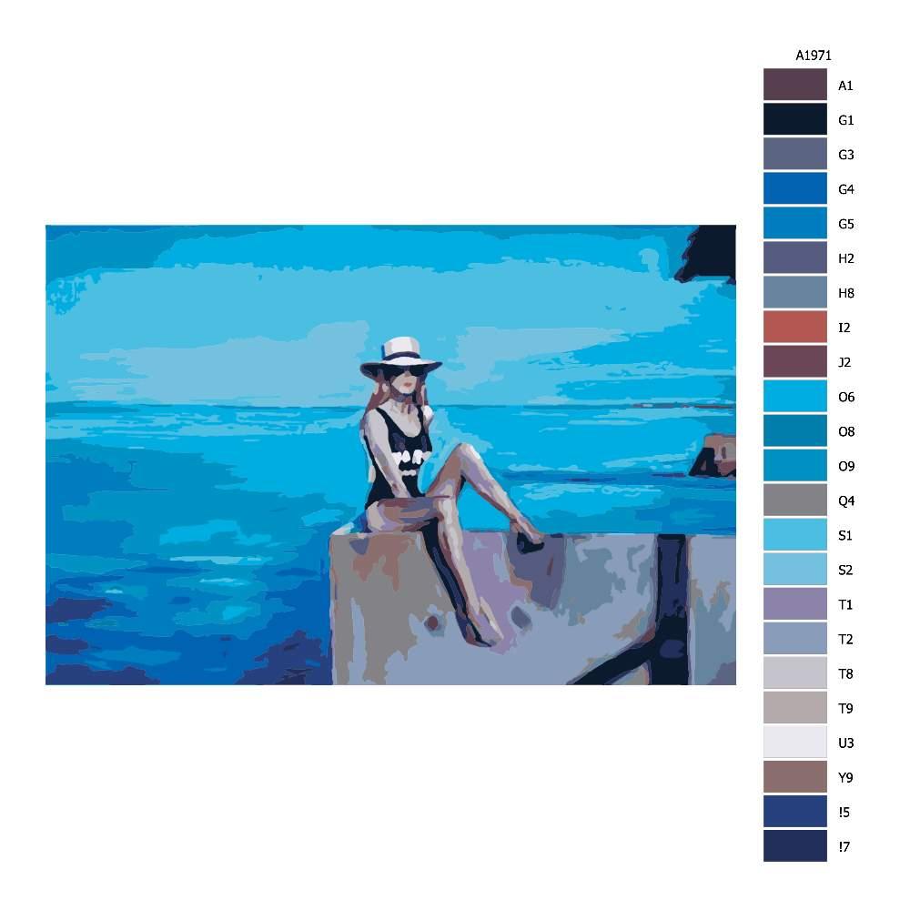 Malování podle čísel Póza na molu