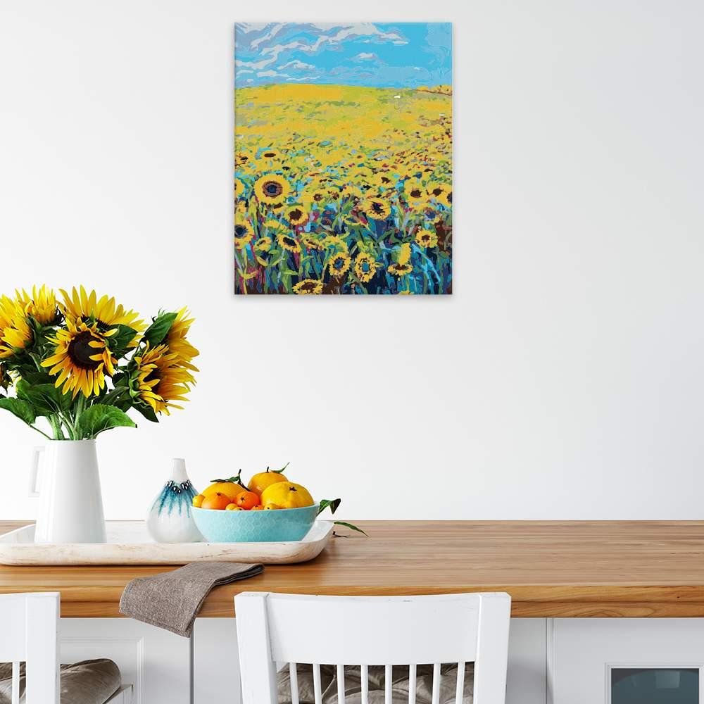 Malování podle čísel Záplava slunečnic