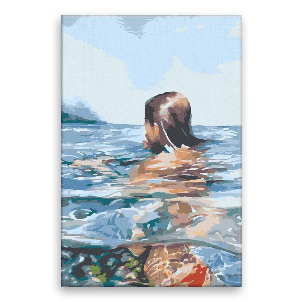 Malování podle čísel V moři
