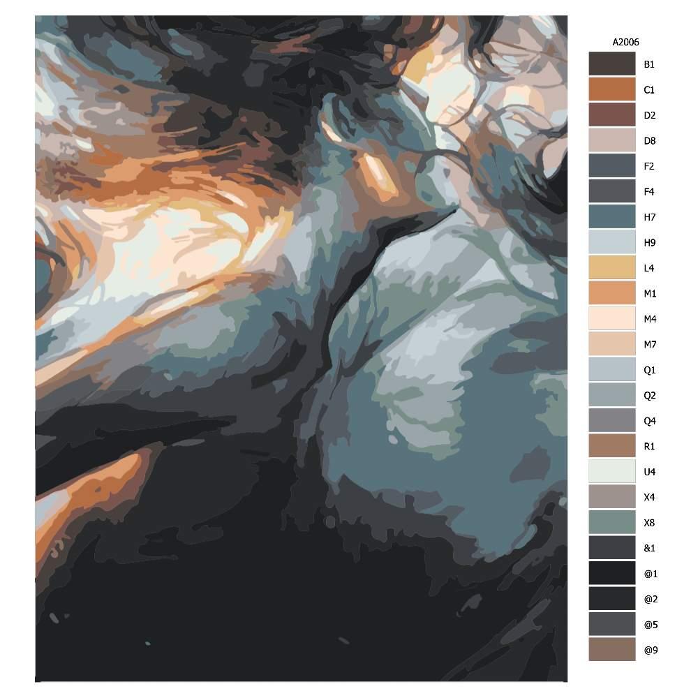 Návod pro malování podle čísel Pod hladinou