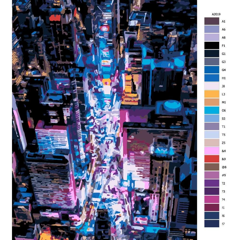 Návod pro malování podle čísel Okouzlující město