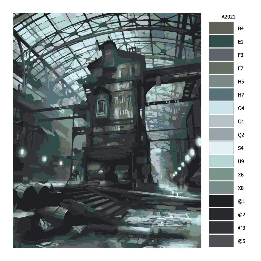 Návod pro malování podle čísel Tajemná továrna