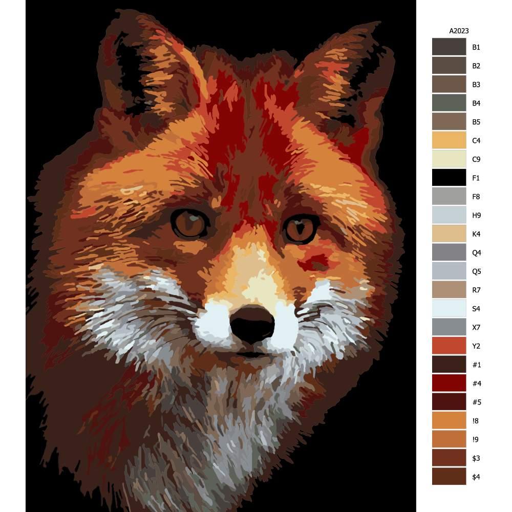 Návod pro malování podle čísel Liška II