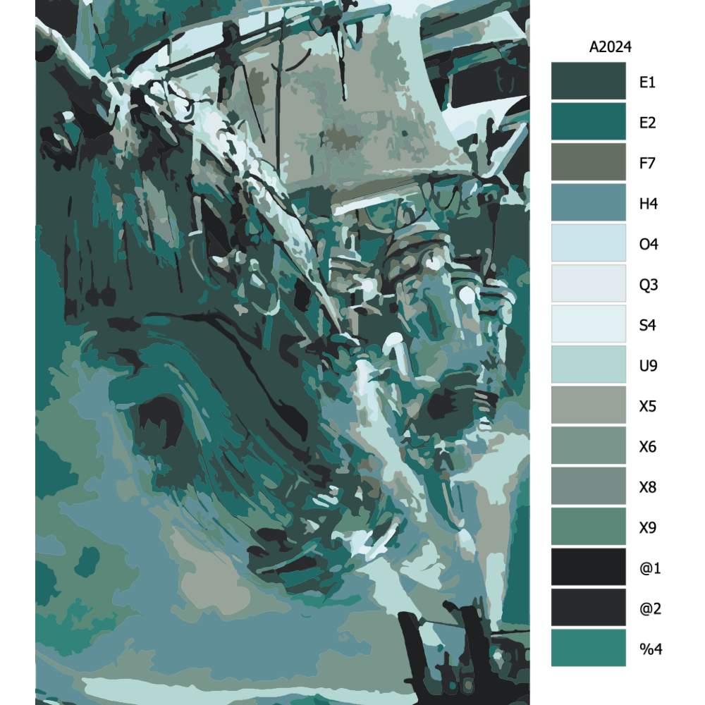 Návod pro malování podle čísel Létající pirátská loď