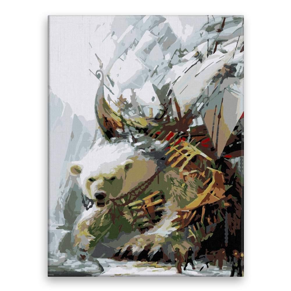 Malování podle čísel Lov na ledního medvěda