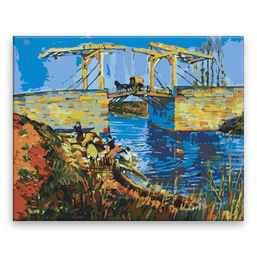 Malování podle čísel Langloiský most Van Gogh