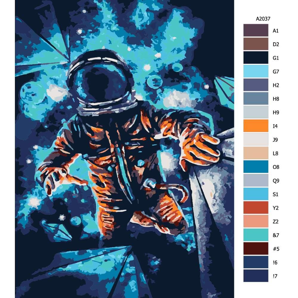 Návod pro malování podle čísel Ztracený kosmonout