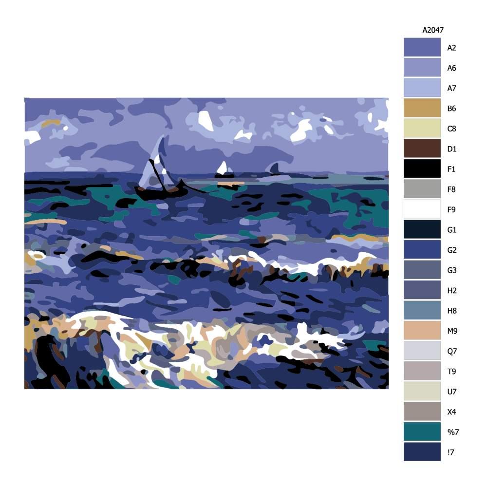 Návod pro malování podle čísel Svaty oceán Van Gogh