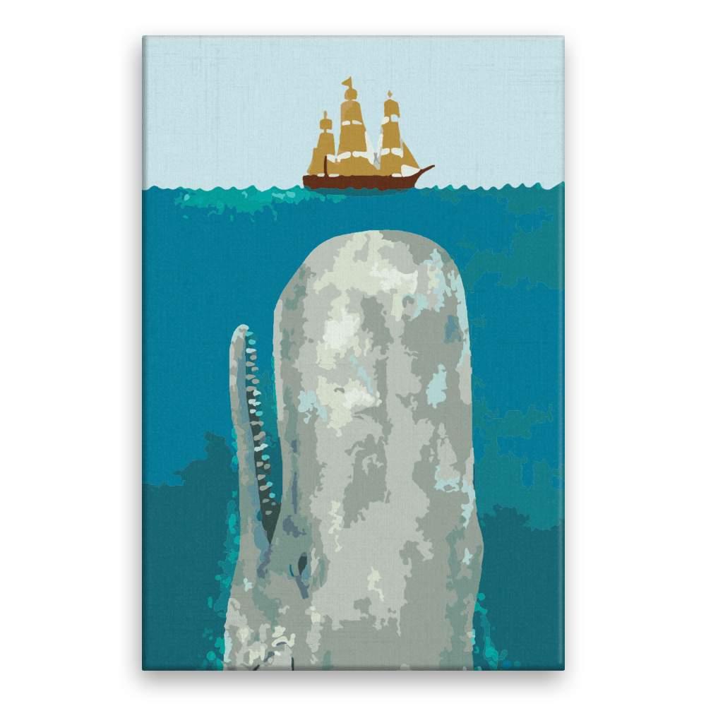 Malování podle čísel Velryba a loď