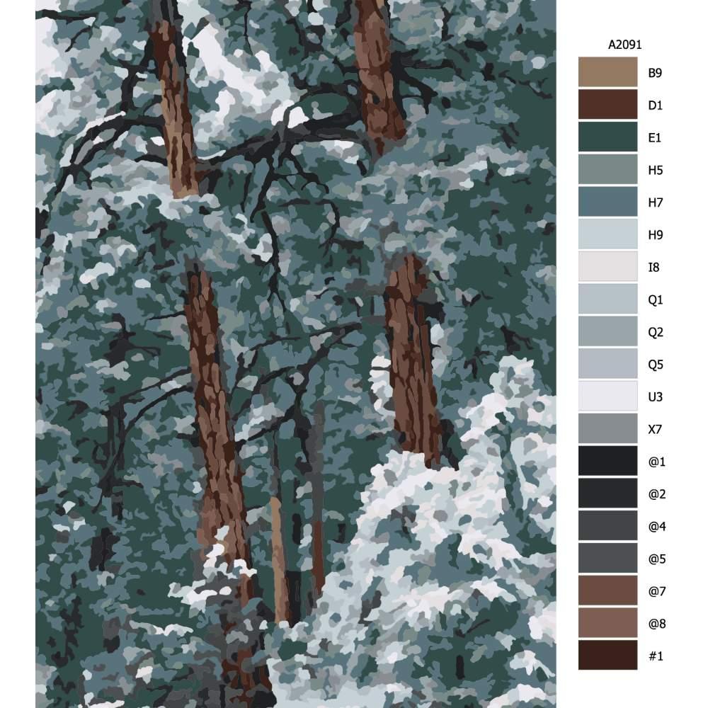 Návod pro malování podle čísel Kanadské borovice
